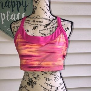 AVIA hot pink and orange sports bra XL